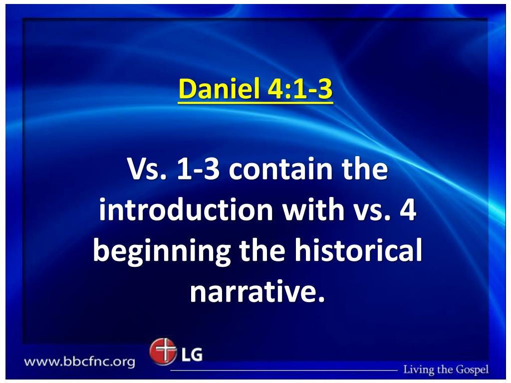 Daniel 4:1-3