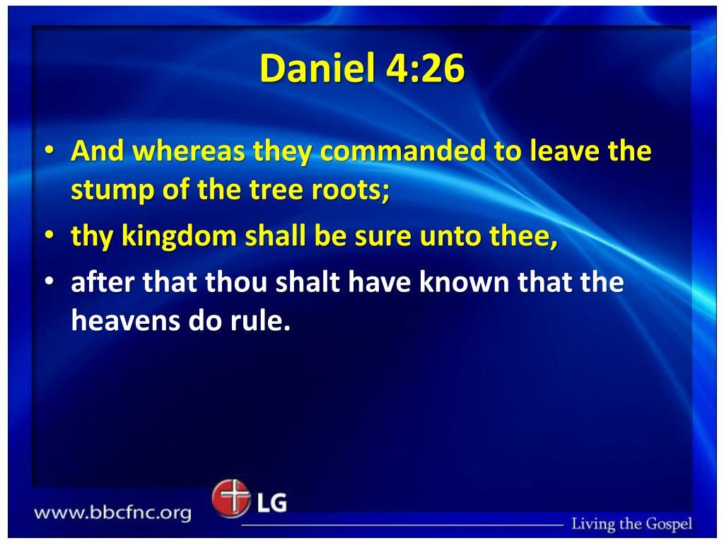 Daniel 4:26