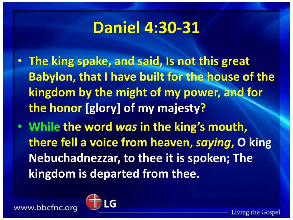 Daniel 4:30-31