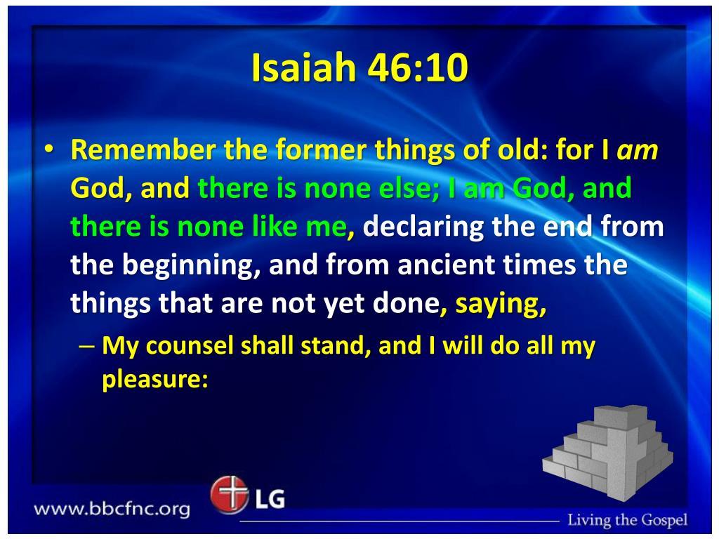 Isaiah 46:10