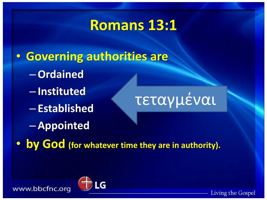 Romans 13:1