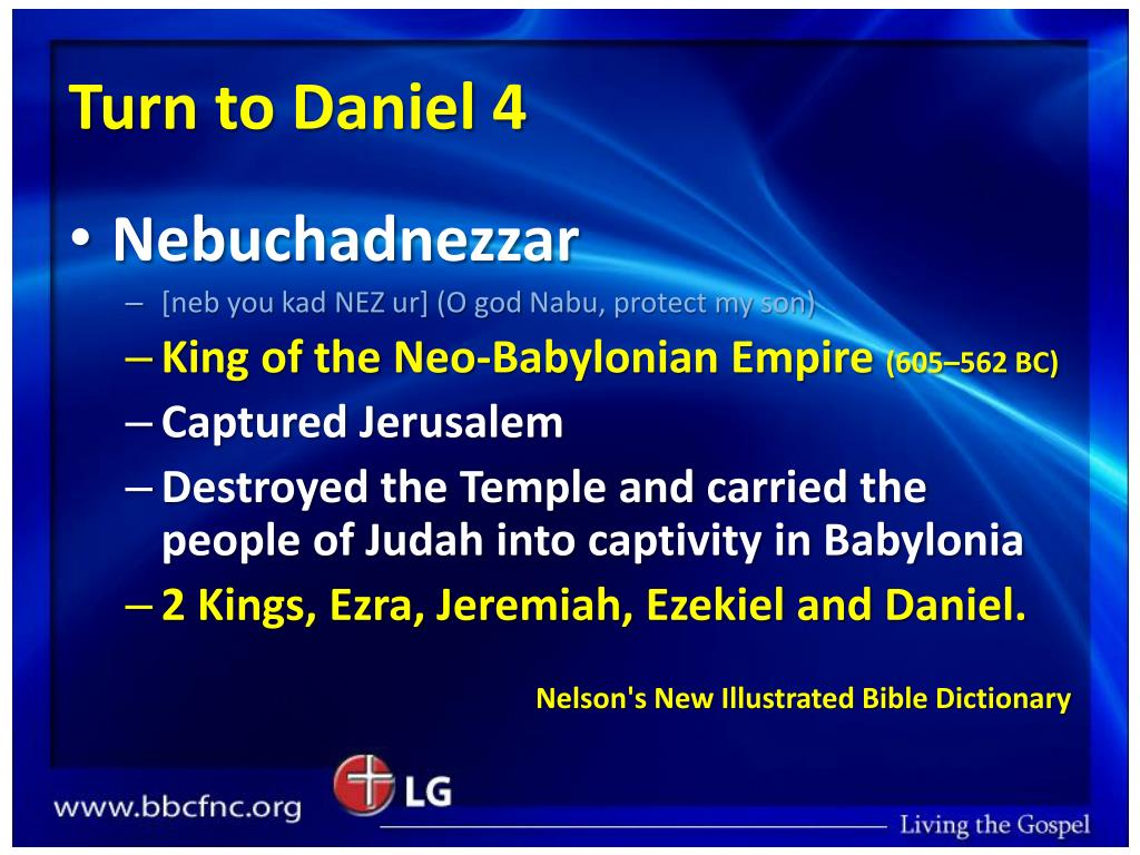 Turn to Daniel 4
