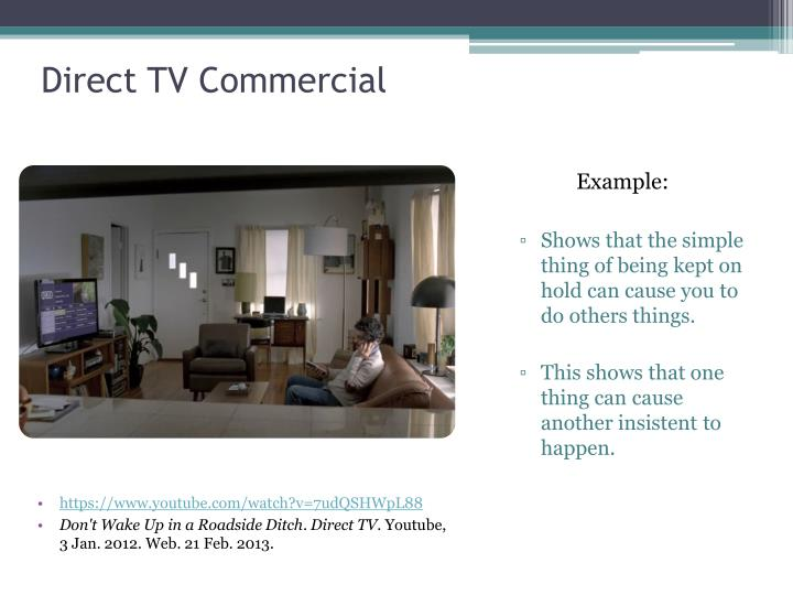 Direct tv commercial