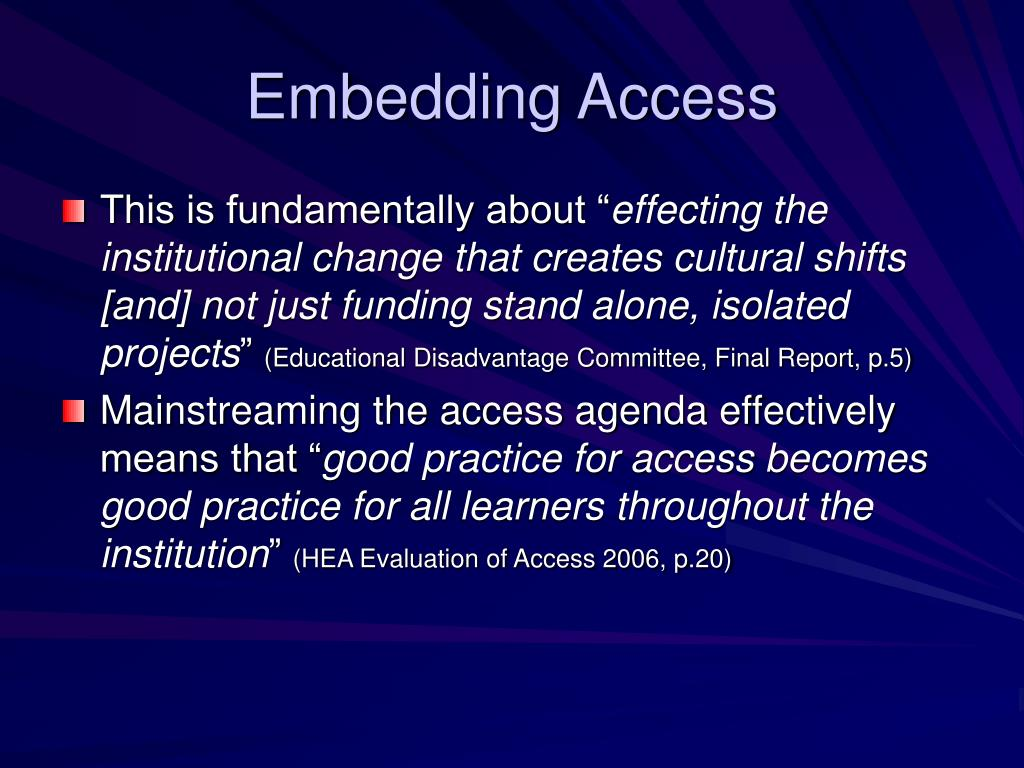Embedding Access