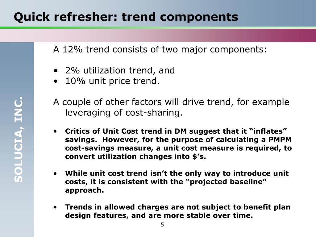 Quick refresher: trend components