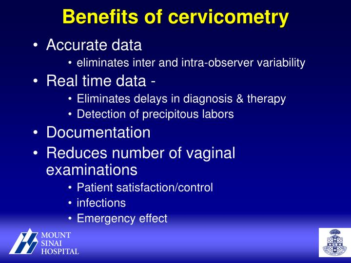 Benefits of cervicometry
