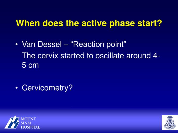 When does the active phase start?