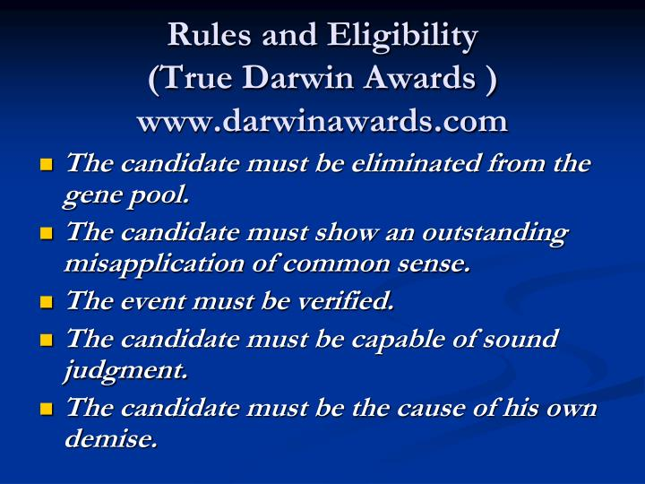Rules and Eligibility