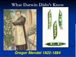 what darwin didn t know1