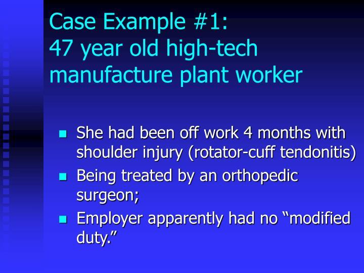 Case Example #1: