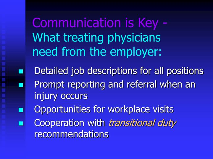 Communication is Key -