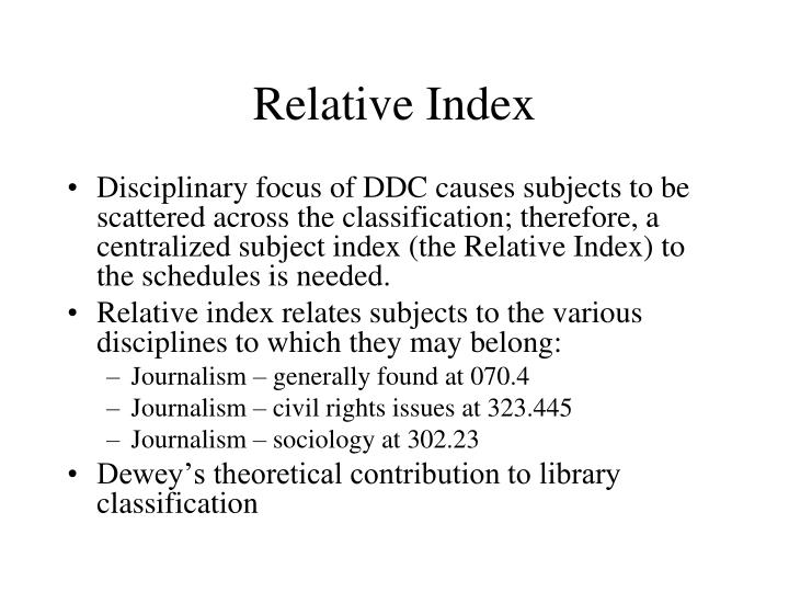 Relative Index