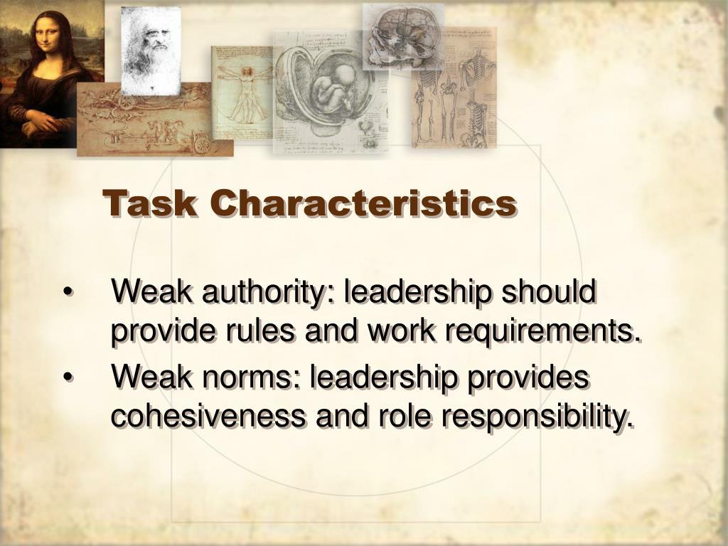 Task Characteristics