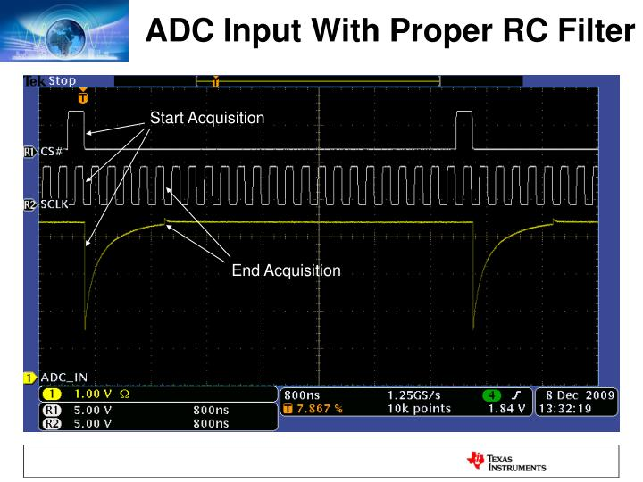ADC Input With Proper RC Filter