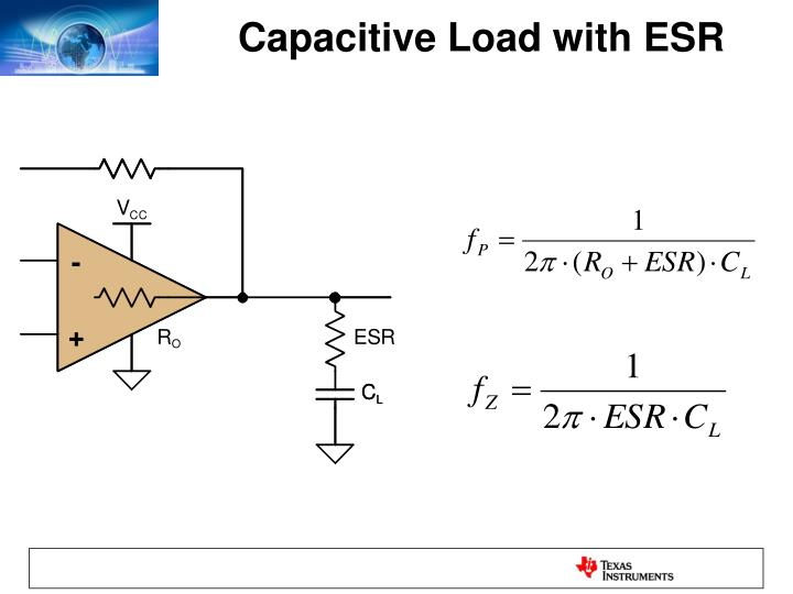 Capacitive Load with ESR