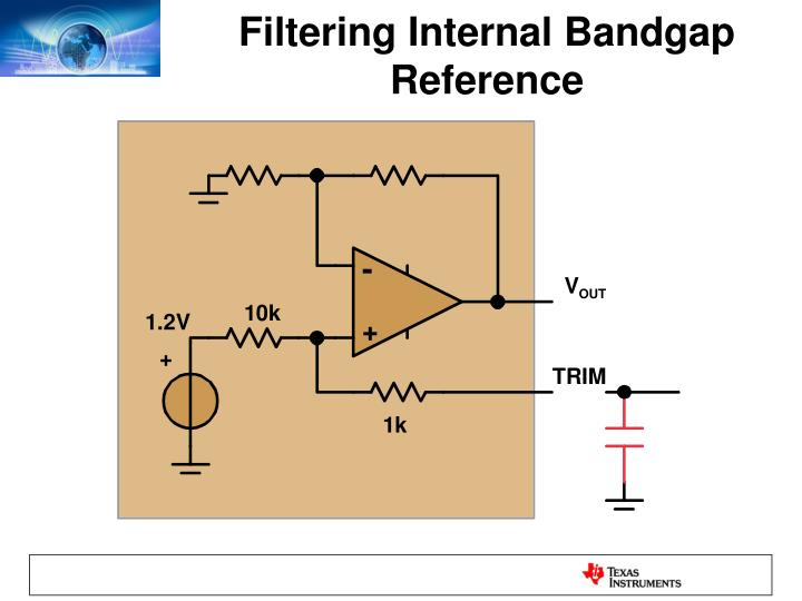 Filtering Internal Bandgap Reference