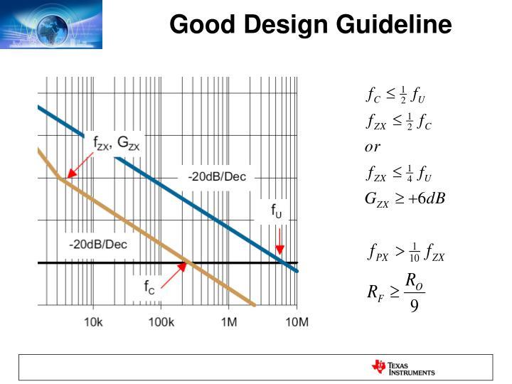 Good Design Guideline