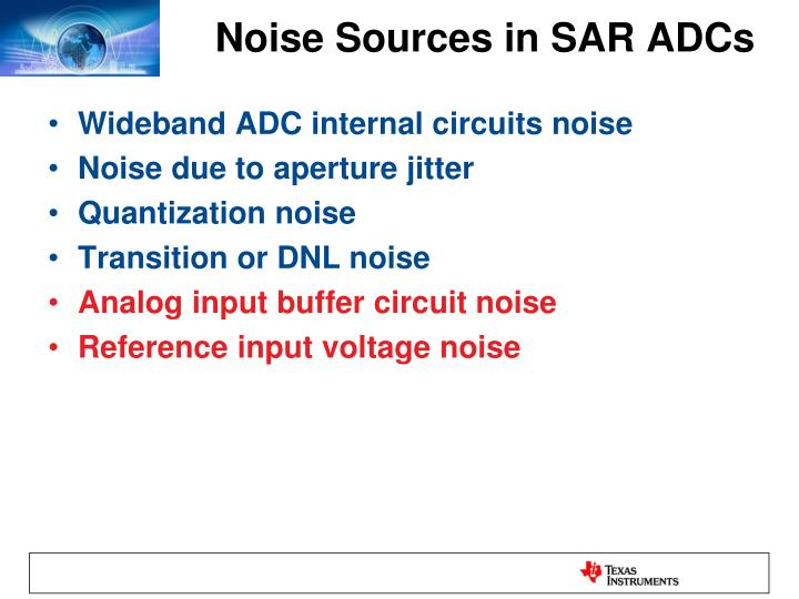 Noise Sources in SAR ADCs