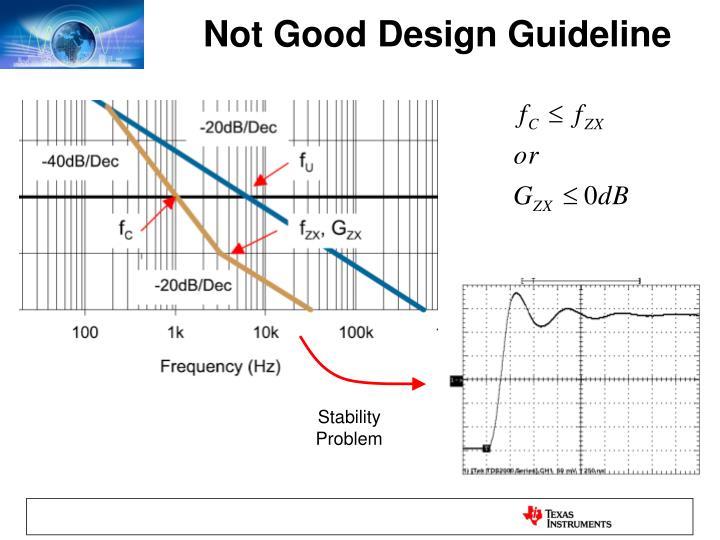 Not Good Design Guideline