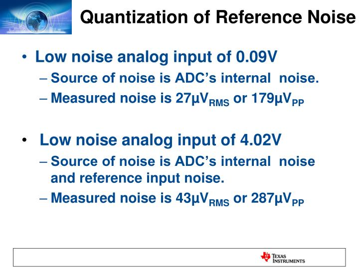 Quantization of Reference Noise