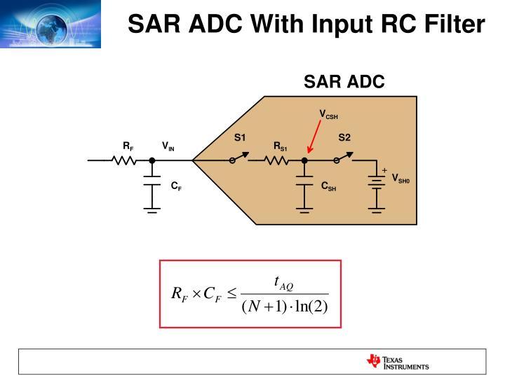SAR ADC With Input RC Filter