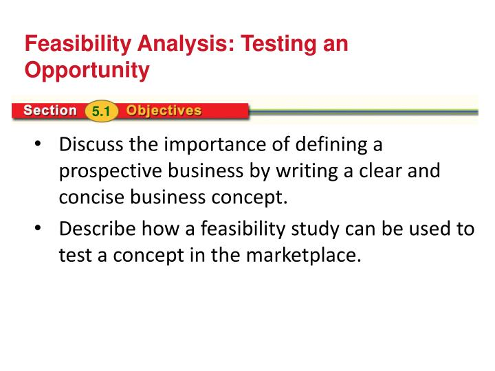 Feasibility Analysis: Testing an Opportunity