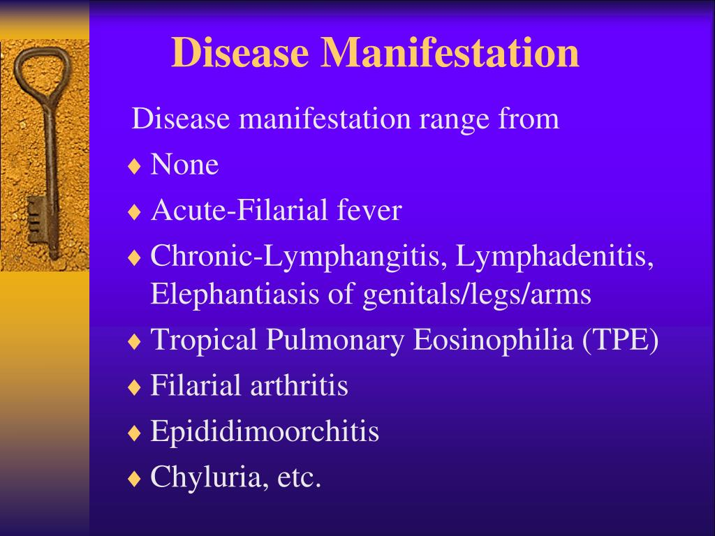 Disease Manifestation