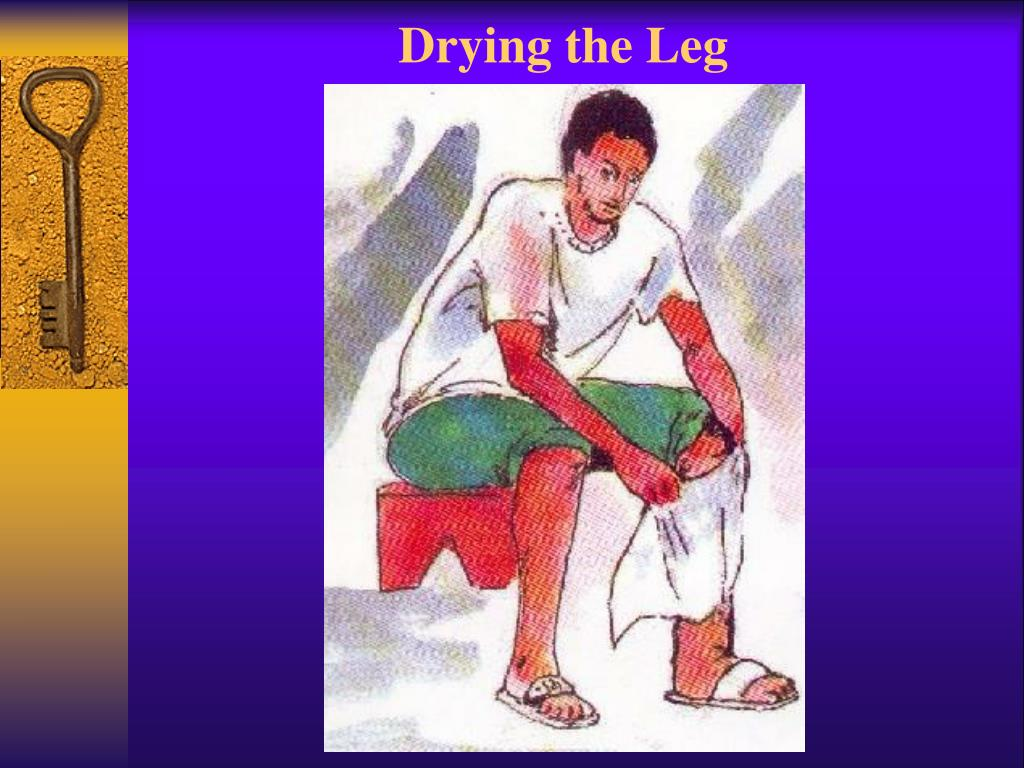 Drying the Leg