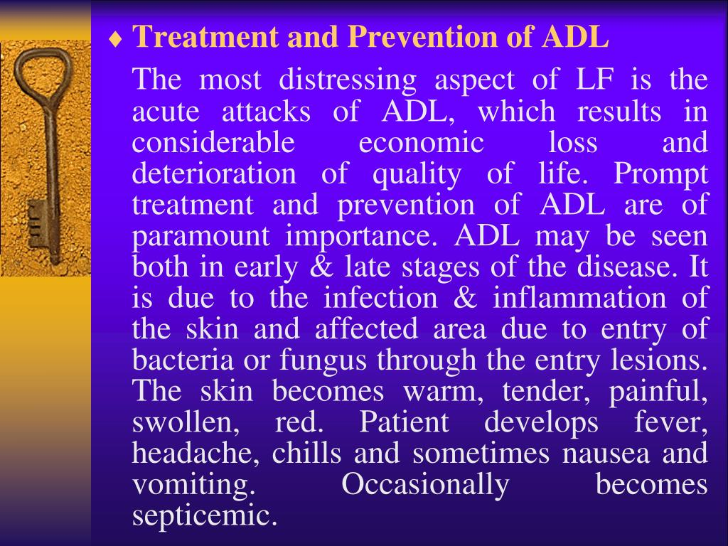 Treatment and Prevention of ADL