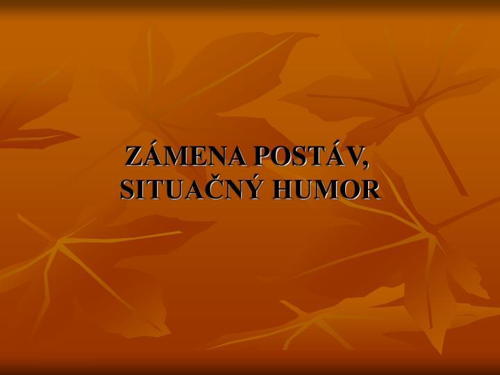 ZMENA POSTV,