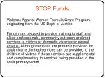 stop funds