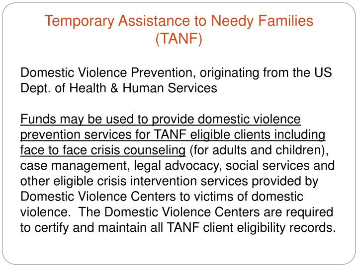 Domestic Violence Prevention, originating from the US Dept. of Health & Human Services