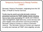 temporary assistance to needy families tanf