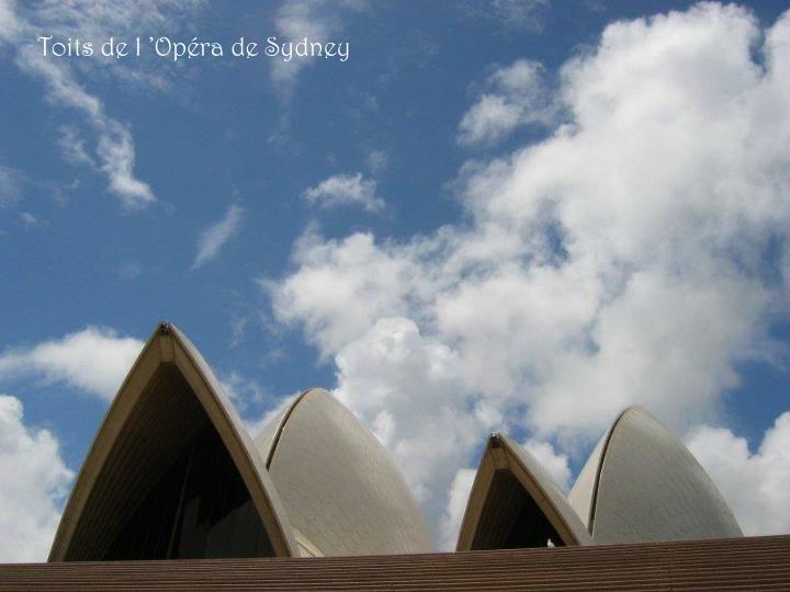 Toits de l'Opéra de Sydney