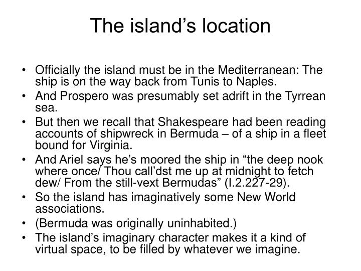 The island s location