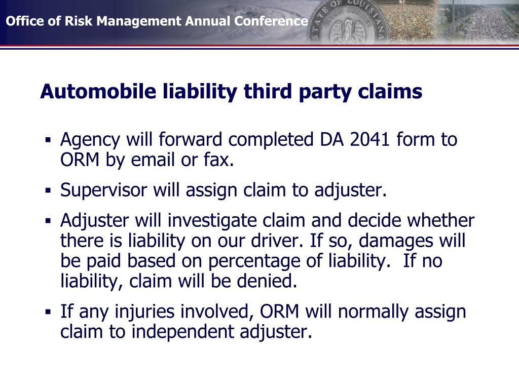 Automobile liability third party claims