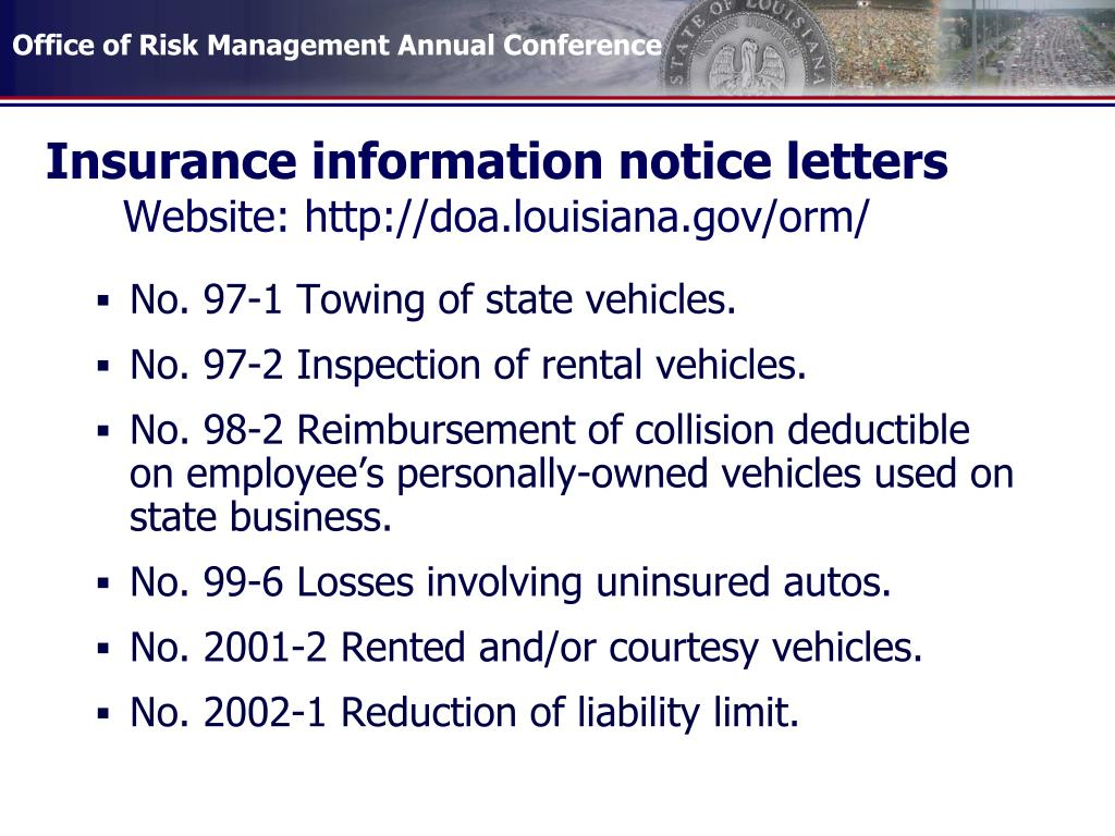Insurance information notice letters