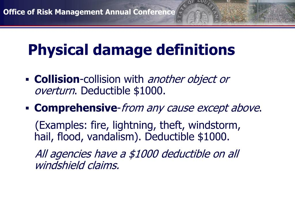 Physical damage definitions