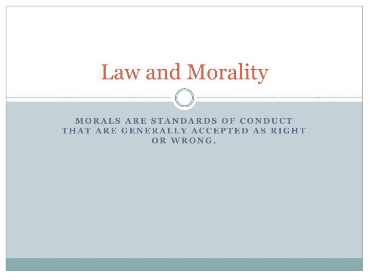 law and morality 2 essay