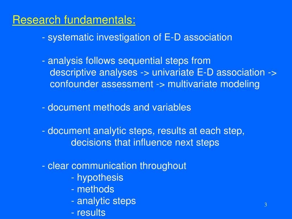 Research fundamentals: