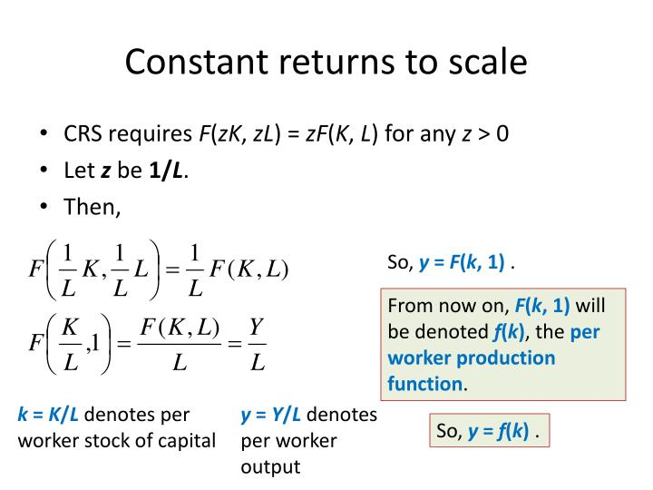 Constant returns to scale