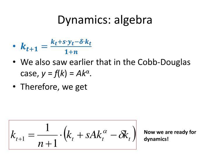 Dynamics: algebra