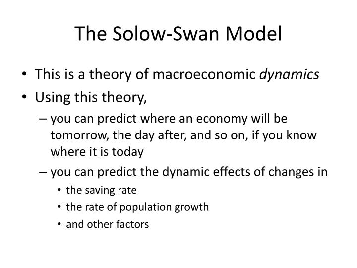 The solow swan model