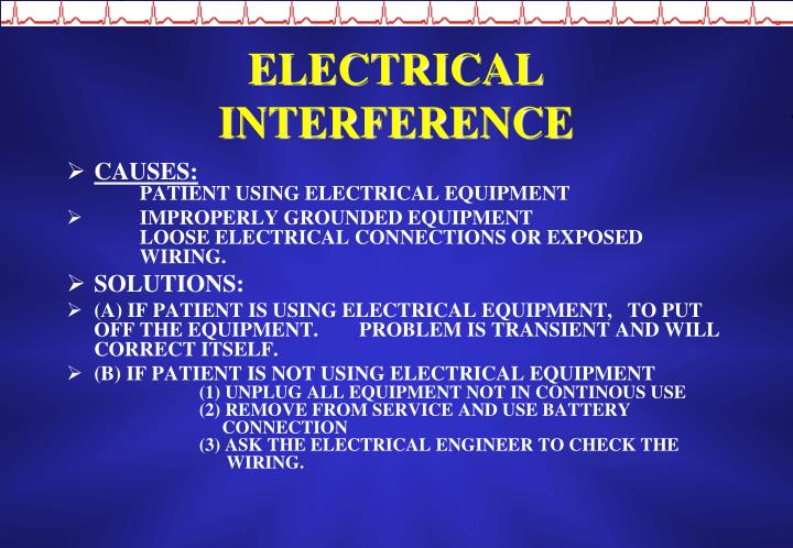 ELECTRICAL INTERFERENCE