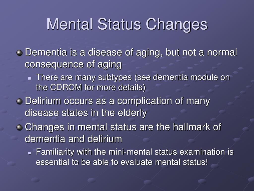 Mental Status Changes