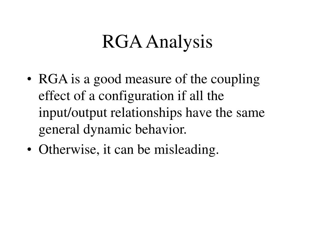 RGA Analysis