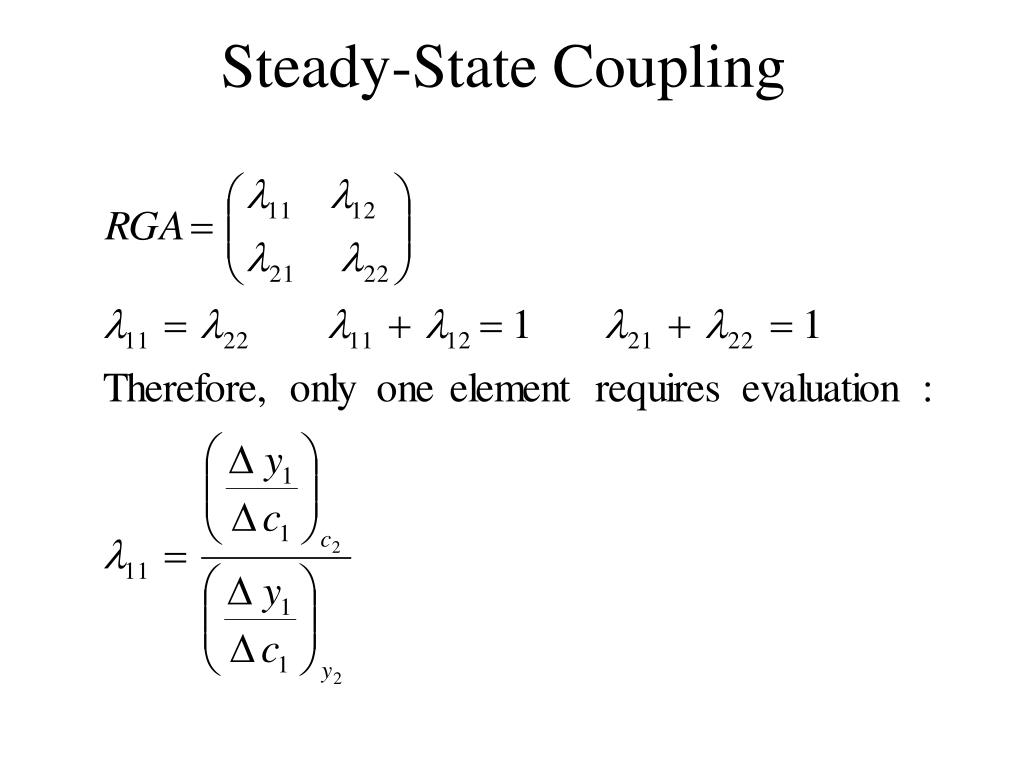 Steady-State Coupling