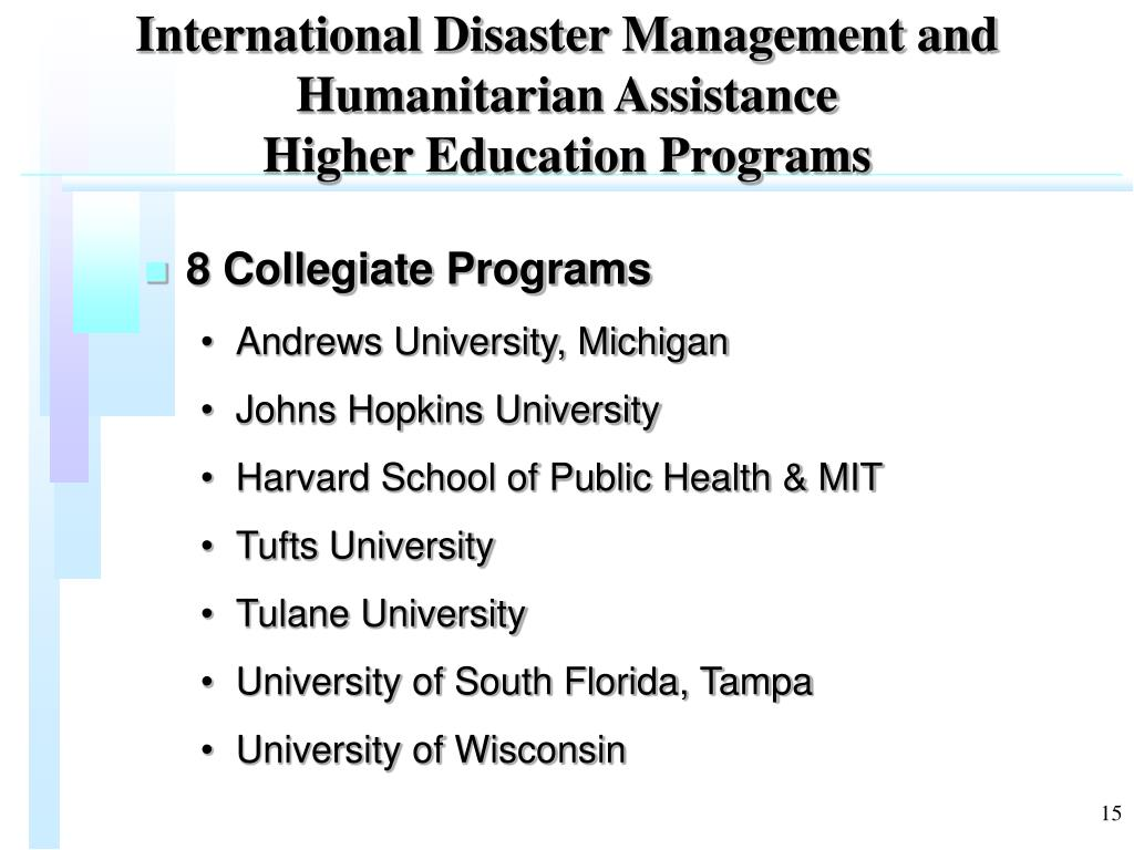 International Disaster Management and