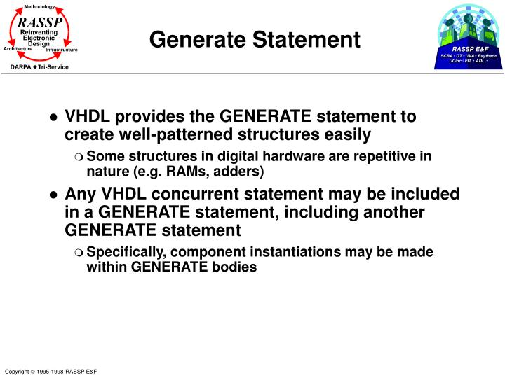Generate Statement