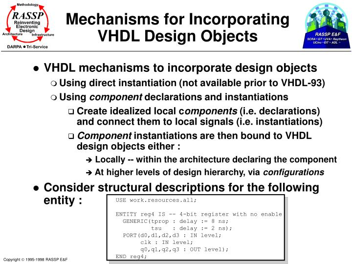 Mechanisms for Incorporating